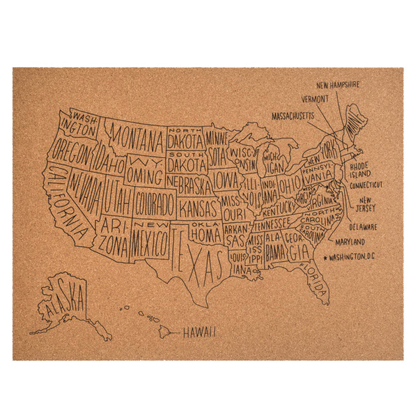 US Map Cork Board Image 1