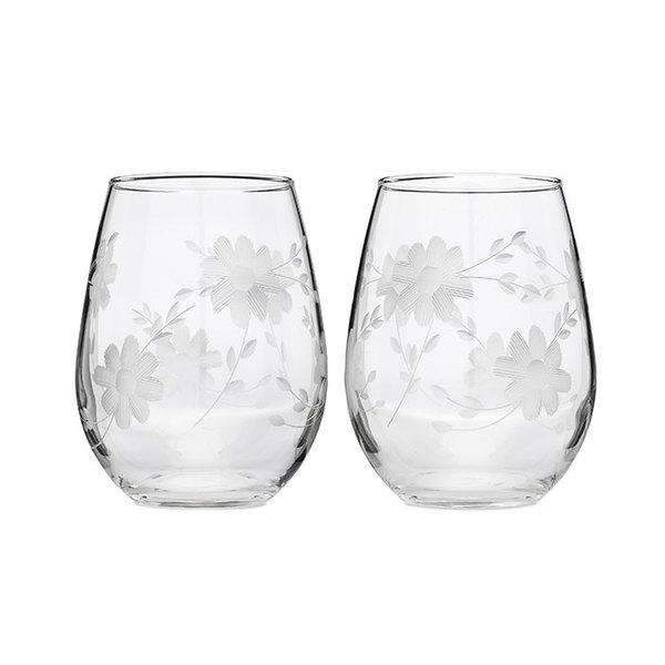 Floral Wine Glasses Image 1