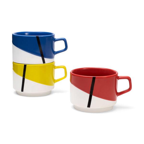De Stijl Stacking Mugs Image 1
