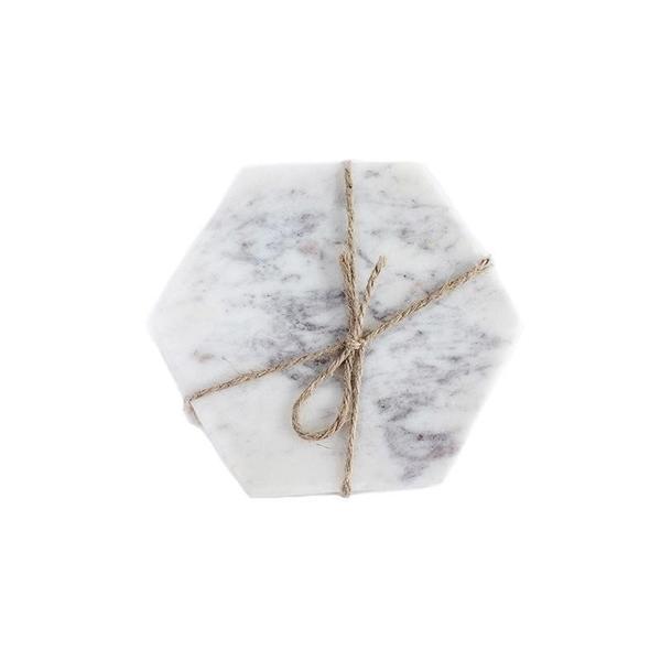 Marble Hexagon Coasters Image 1