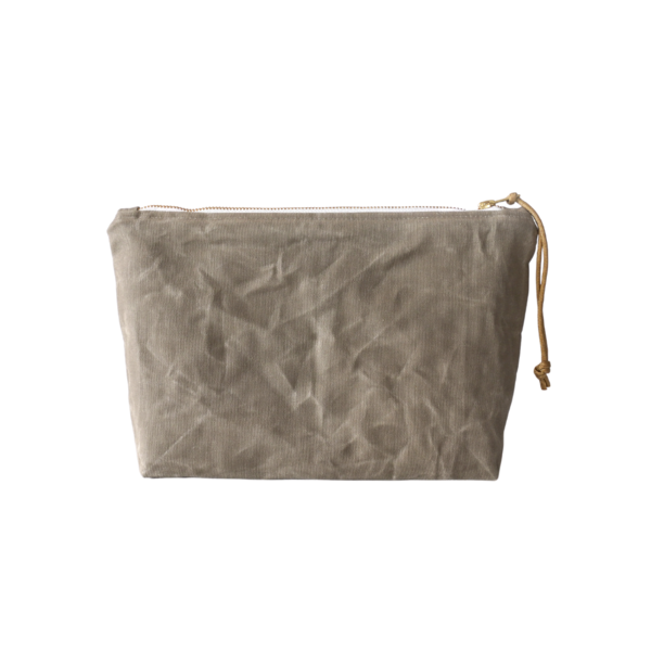 Waxed Canvas Zip Pouch Image 1