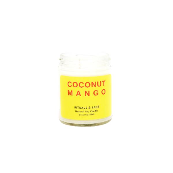 Eco-Friendly Coconut Mango Candle Image 1