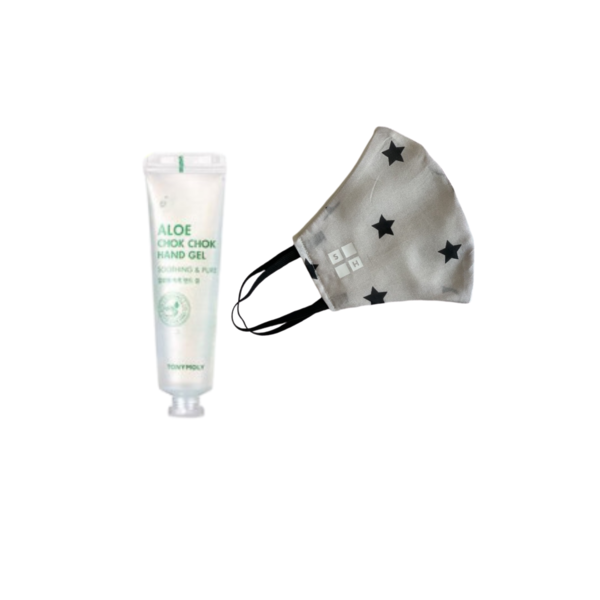 White Star Mask + Aloe Hand Sanitizer Image 1