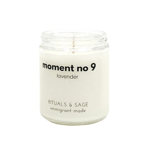 moment no 9 lavender candle