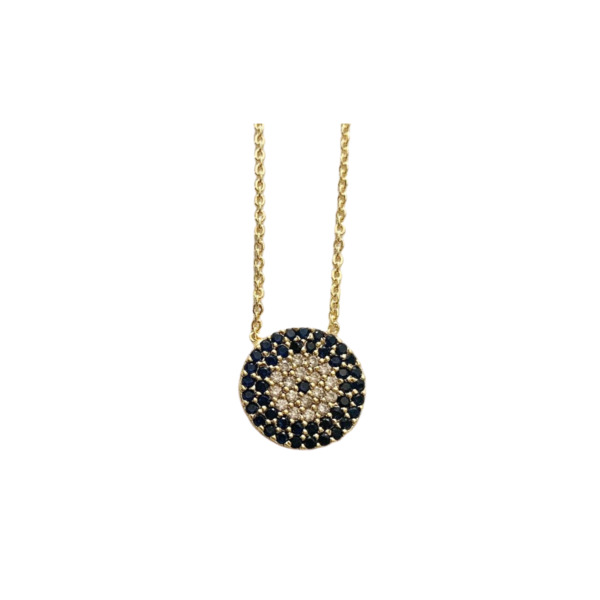 Circle Jewel Necklace Image 1