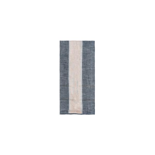 Hand-Spun Linen Napkin Set - Charcoal Image 1