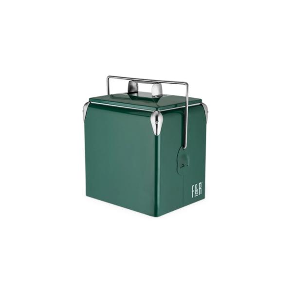 Green Vintage Metal Cooler Image 1